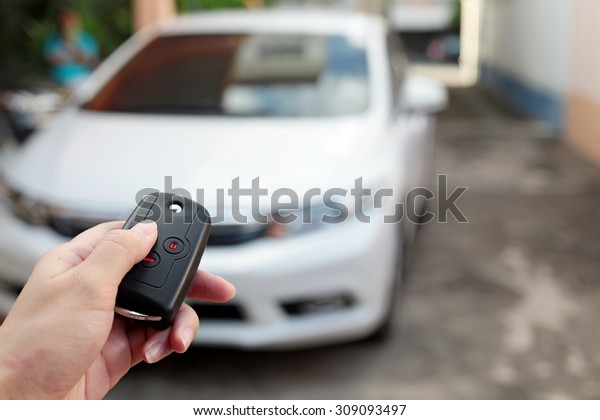 Open the white car on Interlligent key system.
