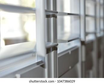 open white plantation shutters