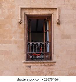 Open window on the wall