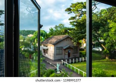 Open window at the Pine Garden in Hualien, Taiwan.