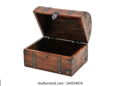 open wooden chest