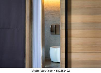 Bathroom Door Images Stock Photos Vectors Shutterstock