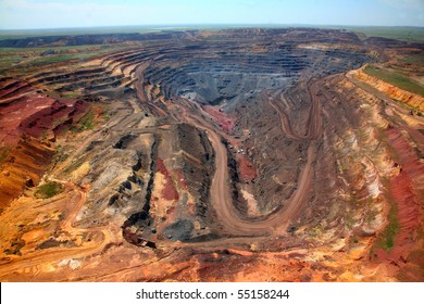 Open-cast mine, general view
