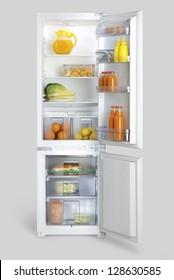 open-door refrigerator