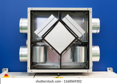 Opened Air Recuperator. Filtration and ventilation system