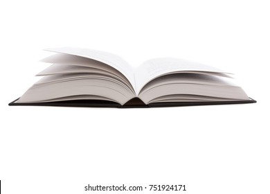Opened big black book
