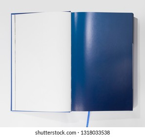 Opened blank book page