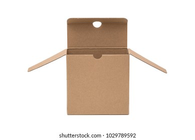 opened carboard box isolated in white background