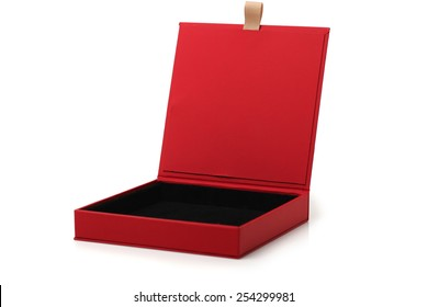 Opened  case isolated on a white background