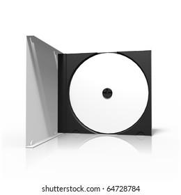 Opened CD box
