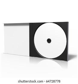 Opened CD box on white background
