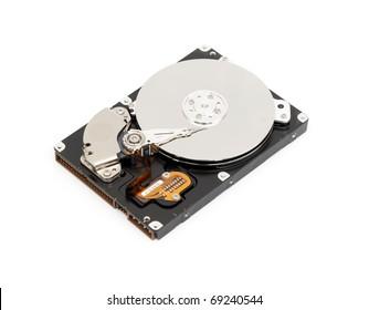 Opened computer harddisk