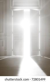 Opened Door With Bright Light