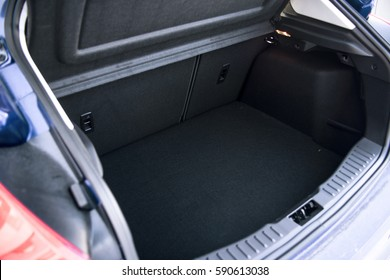 Opened empty car trunk
