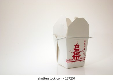 Opened generic take out container from fast food Chinese restaurant