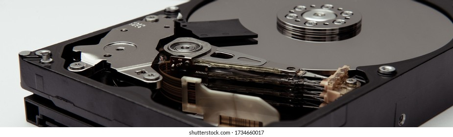 Opened hard drive from the computer hdd