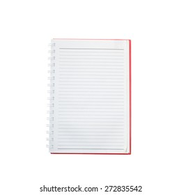 Opened notepad and  white background