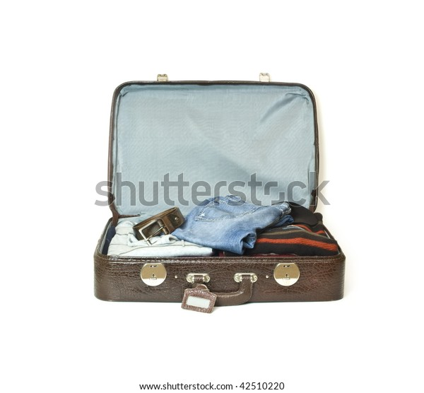 Opened old travel case