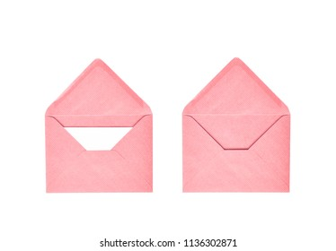 Opened paper envelope isolated
