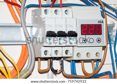 opened switch box electrical fuse blows stock photo (edit now Fuse Cap Wire opened switch box with electrical fuse blows one wire is burnt