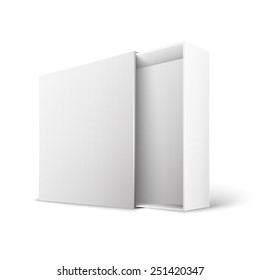 Opened White Modern  Package Box For Your Product