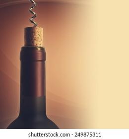 Opening a bottle of wine