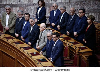 The opening of parliamentary session in Greek Parliament in Athens, Greece on Oct. 03, 2017.