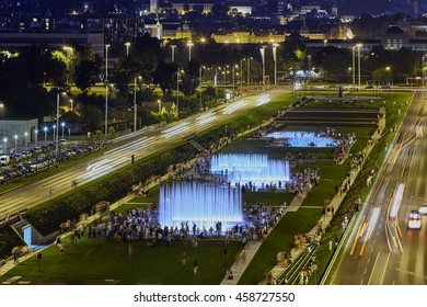 Opening of three newly built fountains on the green belt close to the National and University Library in Zagreb-Zagreb, July, 23.2016  EDITORIAL