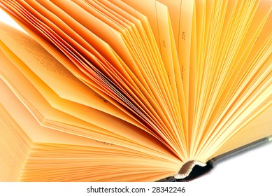 Openning book with yellow page