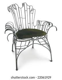 openwork metal chair