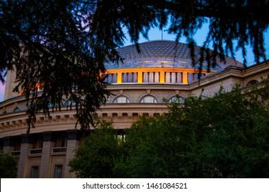Opera and balet theatre. Russia. Novosibirsk. Lenin square.