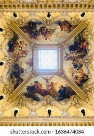 Opera ceiling, Opera Garnier, Paris, France - Shutterstock ID 1636474084