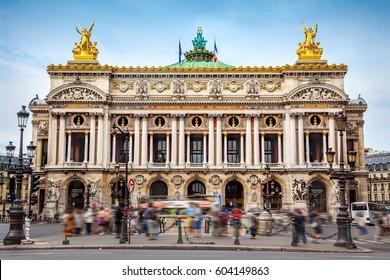 Opera Garnier in Paris  - Shutterstock ID 604149863