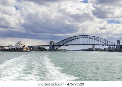 Opera House, Harbor Bridge, Sydney, Australia