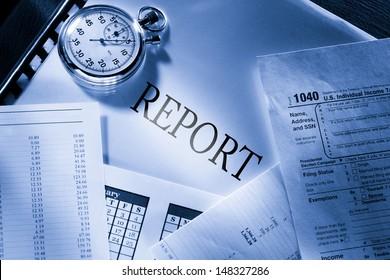 Operating budget, calendar, stopwatch and report