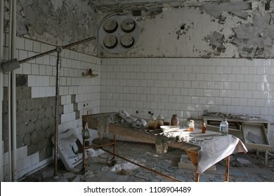 Operating room in main hospital at Pripyat inside the Chernobyl Exclusion zone