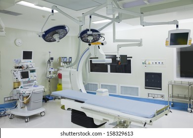 Operating room with surgical equipment