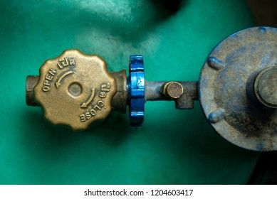 Operating valve of LPG cylinder.