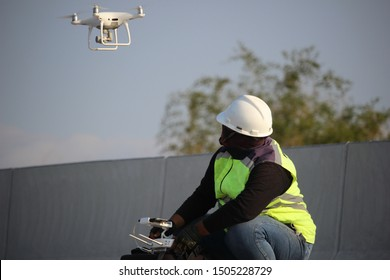 Operator of Drone Remote Aerial Flying Drone