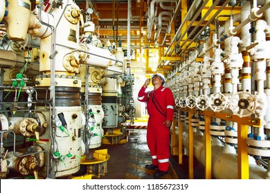 Operator of oil and gas production on wellhead platform.
