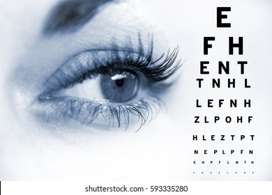 Ophthalmologist concept, checking eyesight with a visit to a specialist