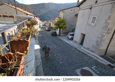 Opi, Italy, October 14th 2018 : Opi is a comune and town in the province of L'Aquila in the Abruzzo region of central Italy. It is located in the National Park of Abruzzo, Lazio e Molise
