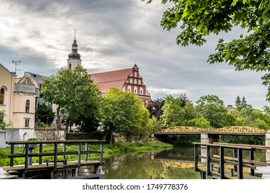 Opole, opolskie / Poland - 06 05 2020: Old Town in Opole on a rainy day