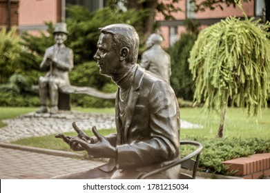 Opole, opolskie / Poland - 06 27 2020: sculptures in the Old Town of Opole