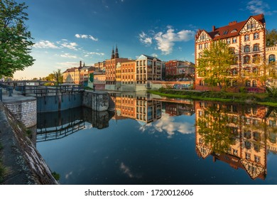 Opole, Poland 25.04.2020- Spring view of historical old town.