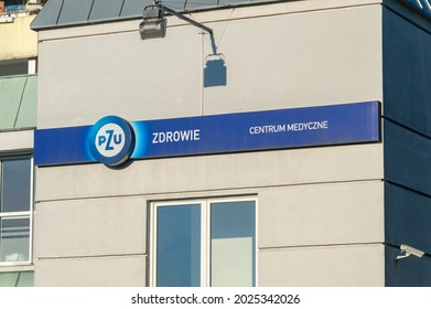 Opole, Poland - June 4, 2021: Logo and sign of PZU Zdrowie - private medical care.
