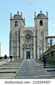 Oporto cathedral in north of Portugal