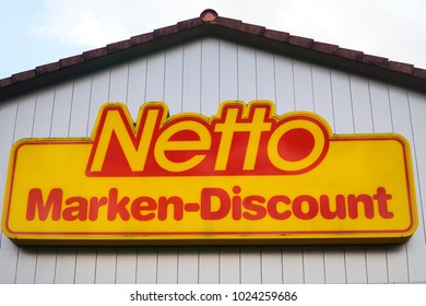 OPPENAU, GERMANY September, 2017: NETTO supermarket chain sign. NETTO is a GERMAN global discount supermarket chain.
