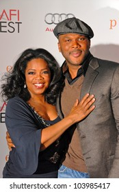 Oprah Winfrey and Tyler Perry at the AFI Fest Premiere of 'Precious,' Chinese Theater, Hollywood, CA. 11-01-09