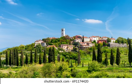Oprtalj - idyllic small town on a hill in central Istria, resembles very much Toscany landscape and achitecture